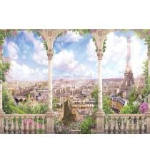 Фототапет Париж арт панорама 3D