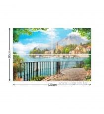 Картина Канава Панорамна гледка 2 3D Сет 4 части