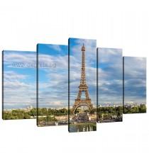 Картина Канава Айфелова кула 2 Сет 5 части