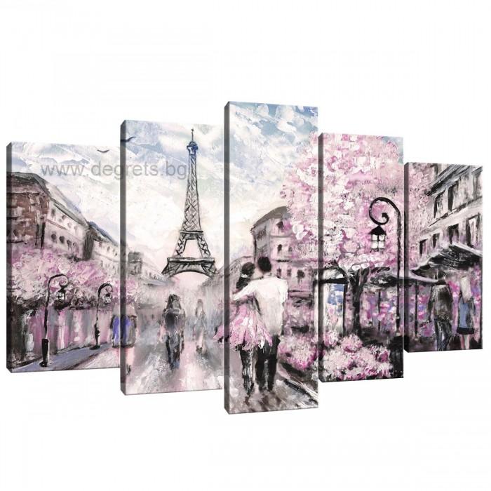 Картина Канава Париж арт 1 Сет 5 части