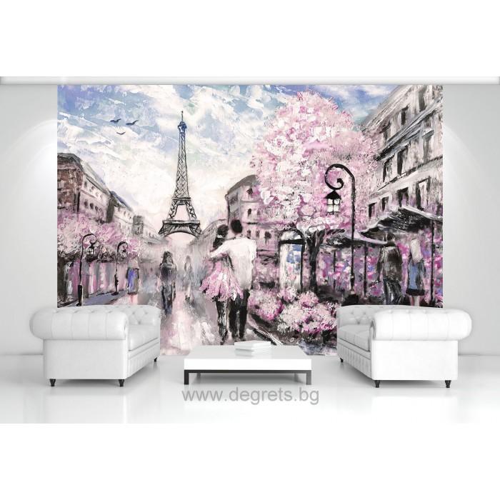 Фототапет Париж арт 1