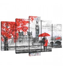 Картина Канава Лондон арт Сет 5 части