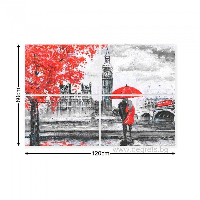 Картина Канава Лондон арт Сет 4 части