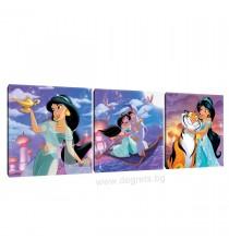 Картина Канава Аладин и Жасмин Сет 3 части