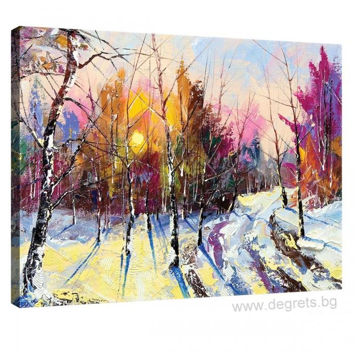 Картина Канава Зима - горски пейзаж S