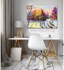 Картина Канава Зима - горски пейзаж L