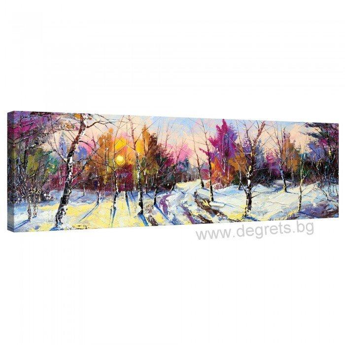 Картина Канава Зима - горски пейзаж XL