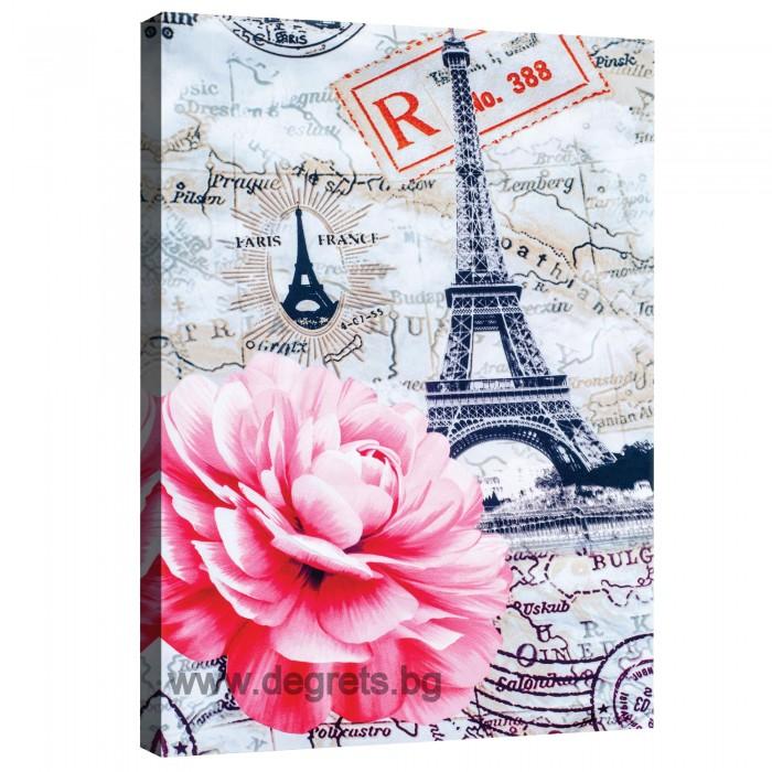 Картина Канава Париж - божур