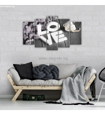 Картина Канава Любов 1 Сет 5 части