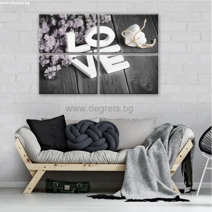 Картина Канава Любов 1 Сет 4 части