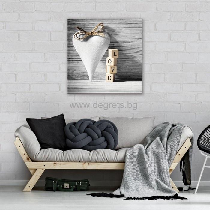 Картина Канава Любов - абстракция 3D