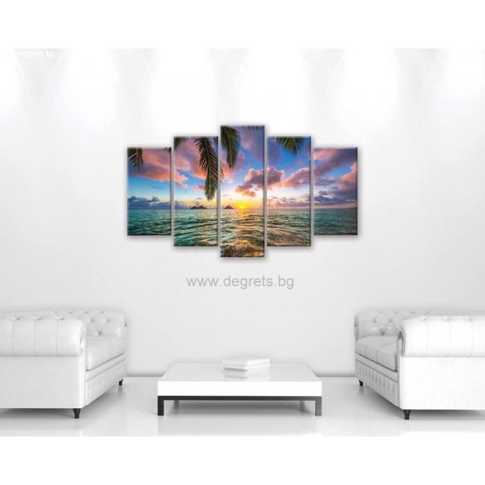 Картина Канава Поглед към морето Сет 5 части