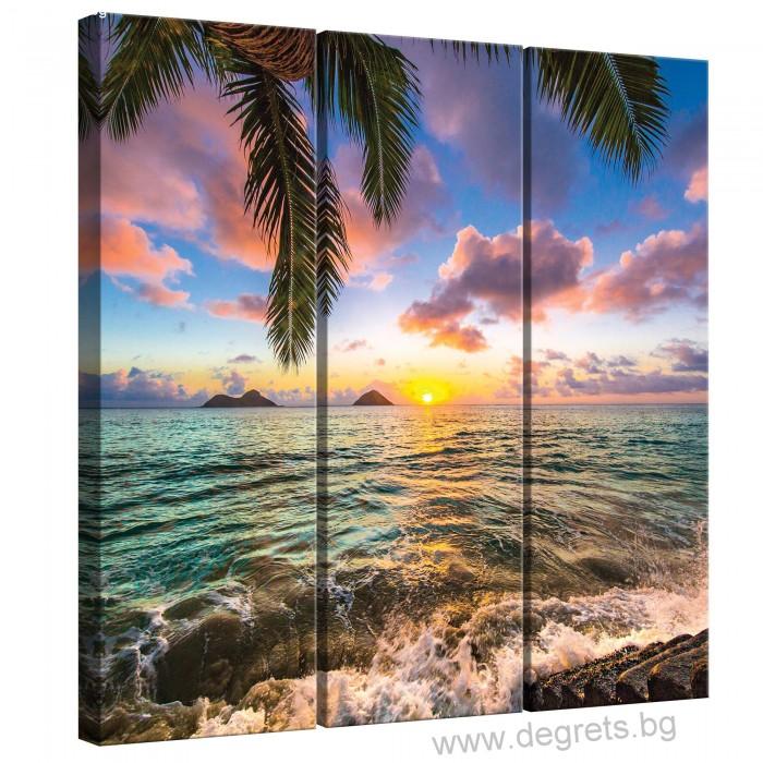 Картина Канава Поглед към морето Сет 3 части
