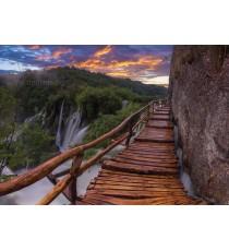 Фототапет Мост край водопада L