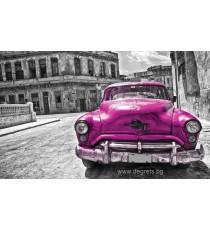 Фототапет Винтидж кола лилава