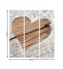 Картина Канава Любов - сърце 1 Сет 3 части