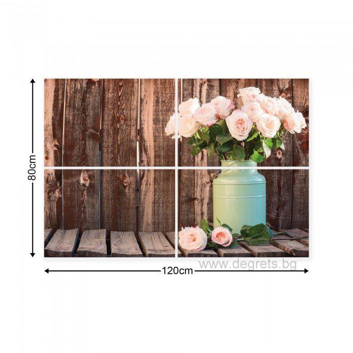 Картина Канава Рози декор Сет 4 части