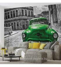 Фототапет Винтидж кола зелена