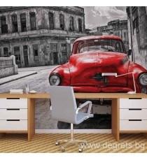 Фототапет Винтидж кола червена