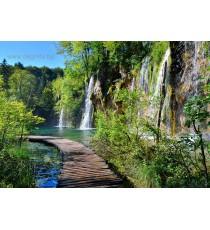 Фототапет Пътека край водопада L