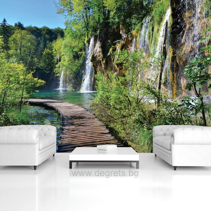 Фототапет Пътека край водопада XL