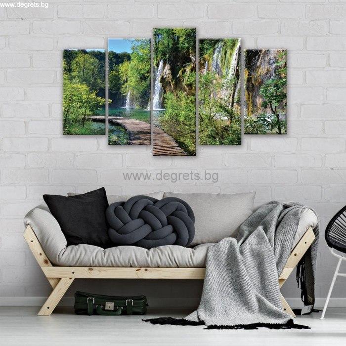 Картина Канава Пътека край водопада Сет 5 части