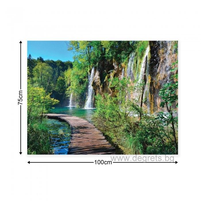 Картина Канава Пътека край водопада