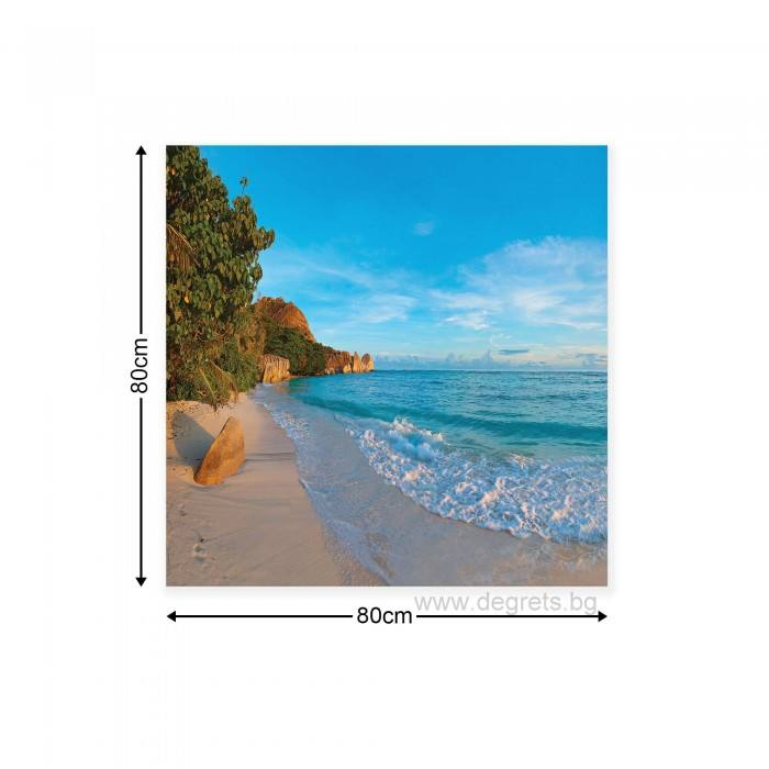 Картина Канава Екзотичен залив 3D