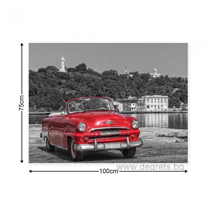 Картина Канава Ретро кола - червена 1