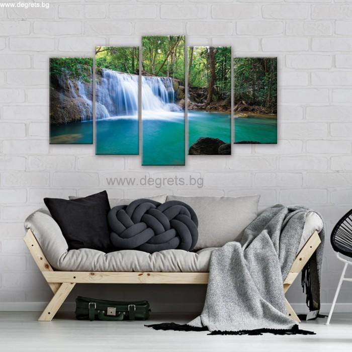 Картина Канава Горски водопад Сет 5 части