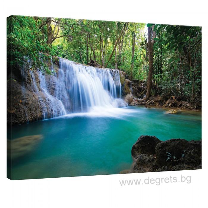 Картина Канава Горски водопад