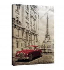Картина Канава Париж - ретро кола