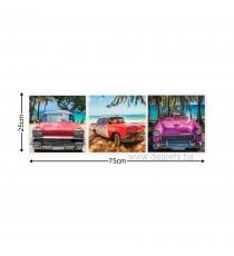 Картина Канава Ретро автомобили Сет 3 части