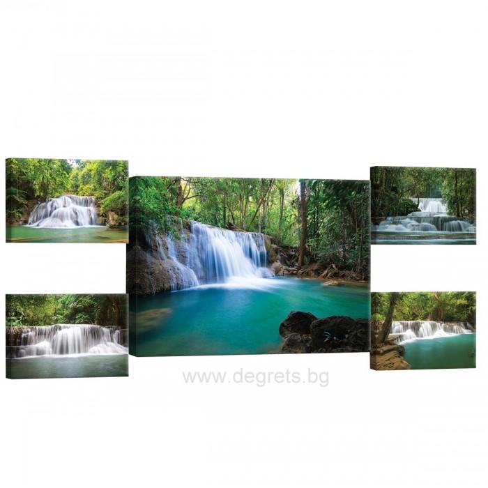 Картина Канава Горски водопади Сет 5 части