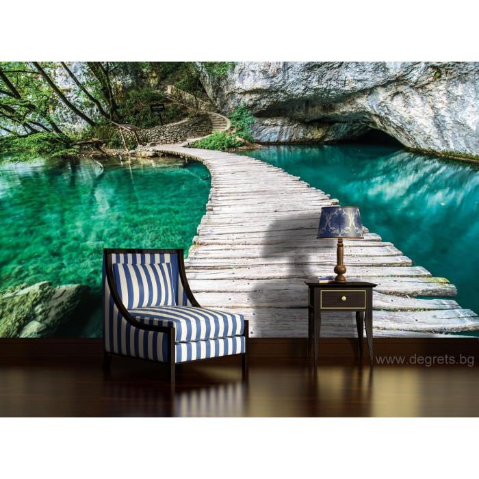 Фототапет Мост в лагуната 3D XL