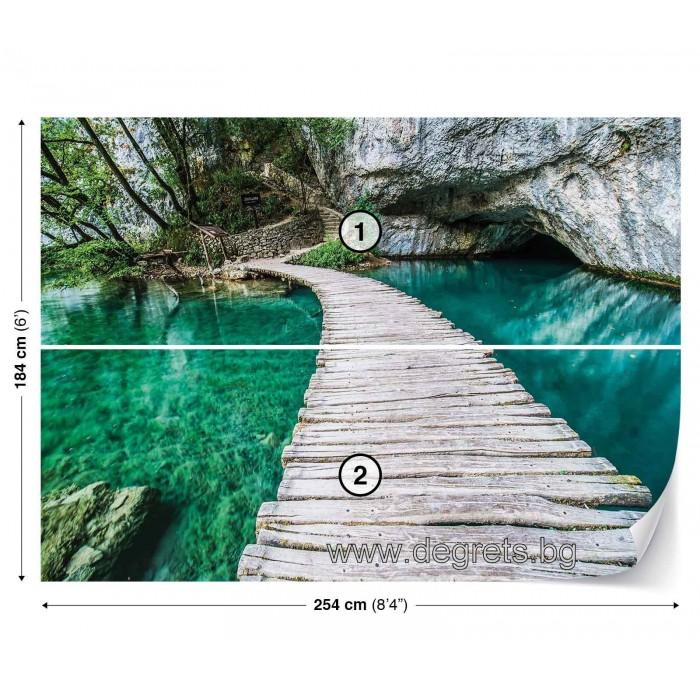 Фототапет Мост в лагуната 3D L