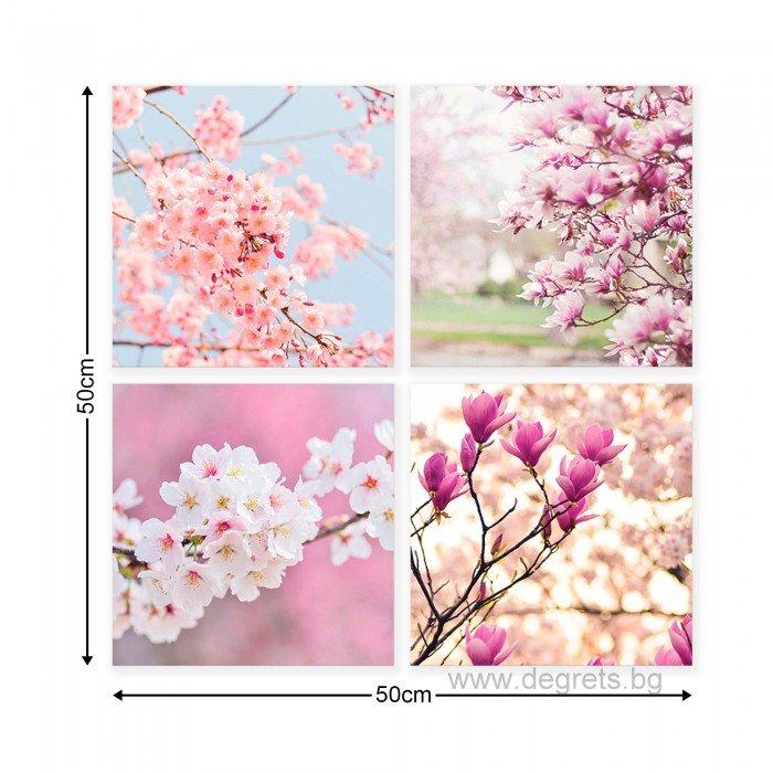 Картина Канава Пролетен цвят Сет 4 части