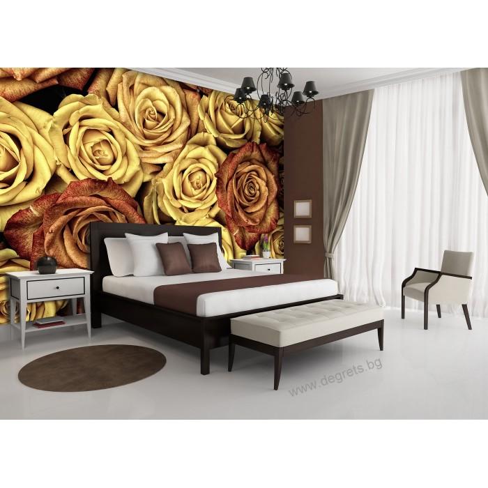 Фототапет Винтидж рози 3D XL