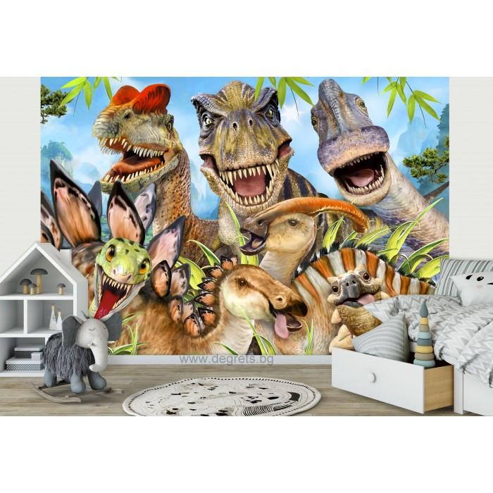 Фототапет Динозаври - селфи 2 3D