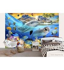 Фототапет Морски свят - селфи 3D