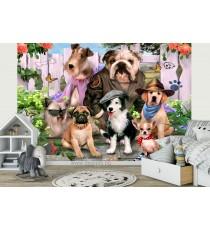 Фототапет Кученца - селфи 1 3D