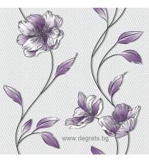 Тапет хартиен Луиза лилав