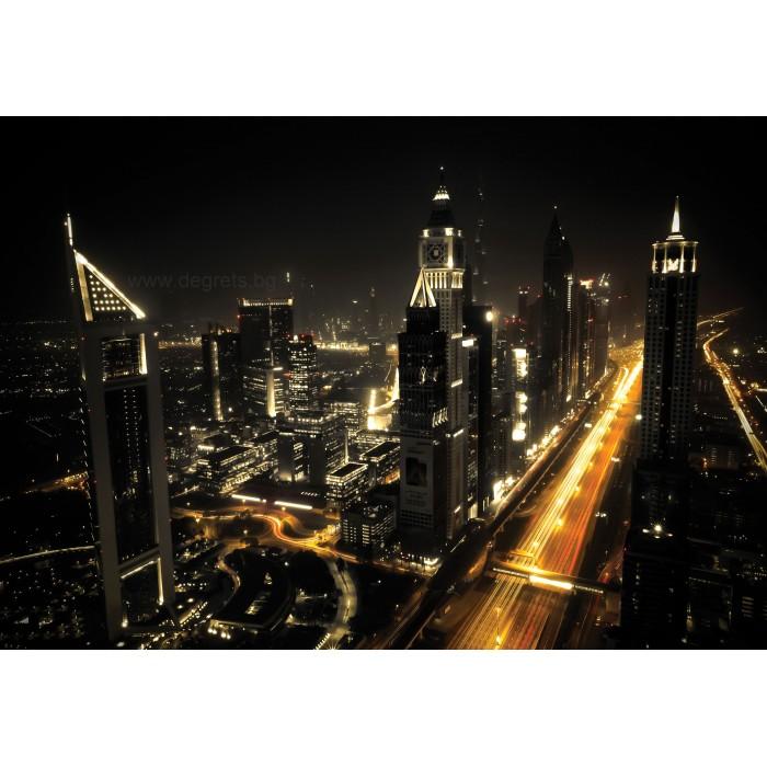 Фототапет Мегаполис през нощта