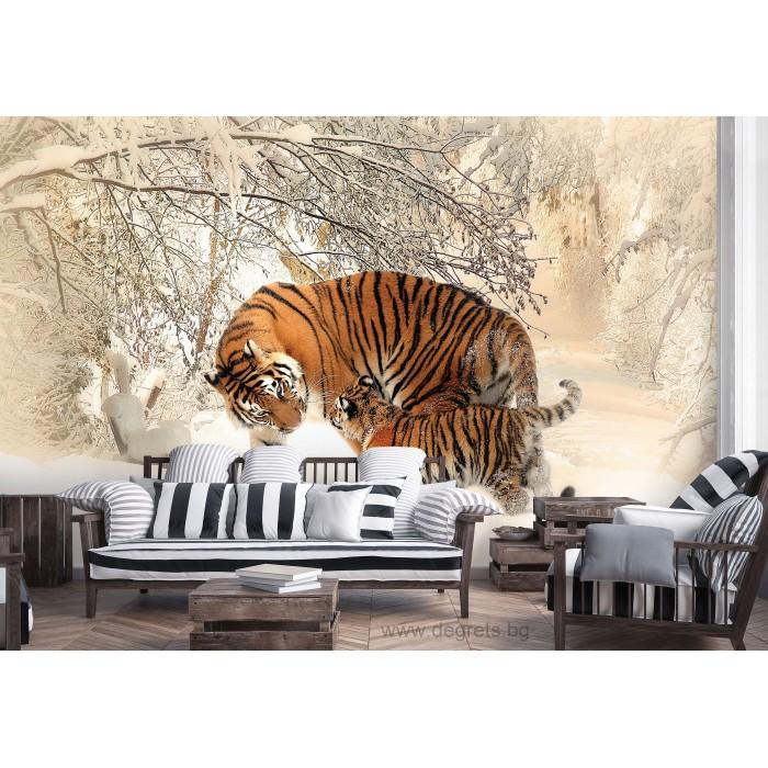 Фототапет Тигри - любов