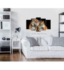 Картина Канава Тигри Сет 5 части