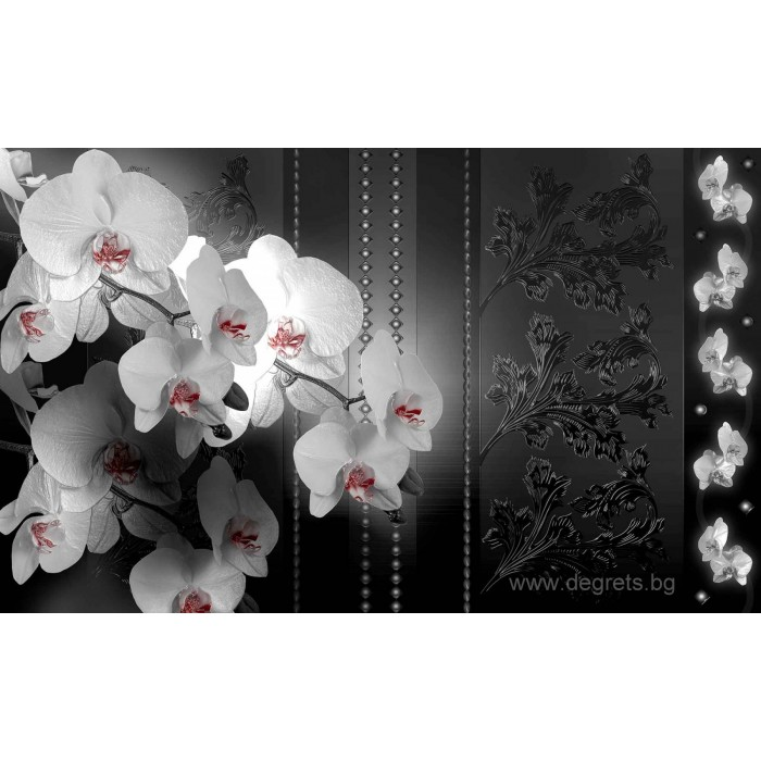 Фототапет Орхидеи 3D Абстракция