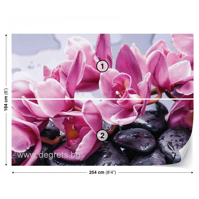 Фототапет Орхидеи Релакс 3D