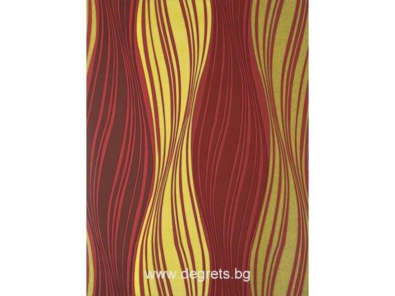 Фолио Вълна червено-жълта 3D