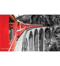 Фототапет Влак в планината