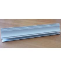 PVC профил декоративен бял 3 метра